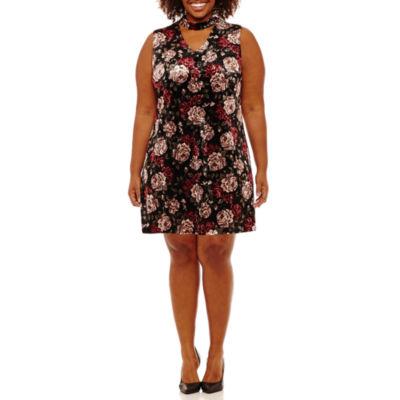 Alyx Sleeveless Floral Sheath Dress-Plus