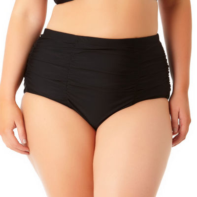 Allure By Img High Waist Swimsuit Bottom-Juniors Plus