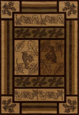Art Carpet Cabin Brown Valley Woven Rectangular Rugs