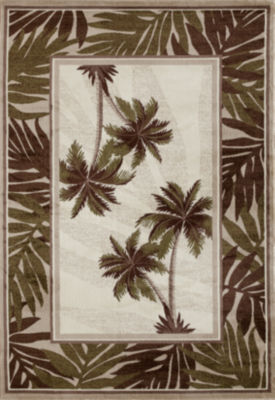 Art Carpet Palm Coast Frond Woven Rectangular Runner