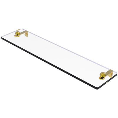 Allied Brass 22 IN Glass Vanity Shelf With BeveledEdges