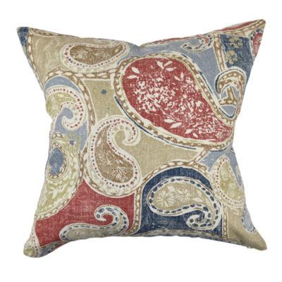 Aboriginal Paisley Designer Throw Pillow