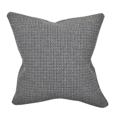 Black and White Sewn Print Woven Throw Pillow