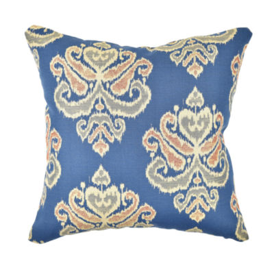 Blue Earth Tone Damask Throw Pillow - JCPenney