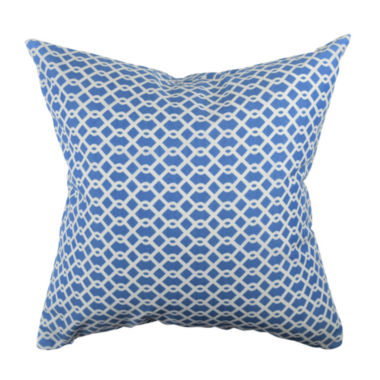 Blue Intertwined Diamonds Jacquard Throw Pillow