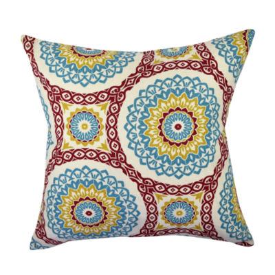 Bold Circular Aboriginal Throw Pillow