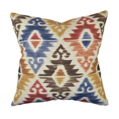Bold Multicolor Aztec Throw Pillow