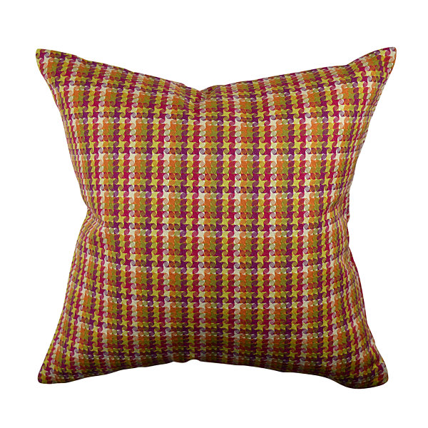 Jacquard Decorative Pillows : Bold Multicolor Plaid Jacquard Throw Pillow - JCPenney