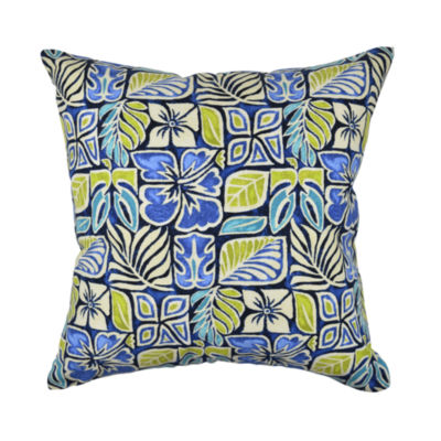 Bold Nautical Floral Throw Pillow