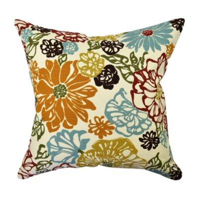 Classial Multicolor Floral Throw Pillow
