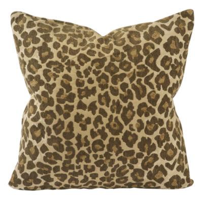 Classic Leopard Print Jaquard Throw Pillow