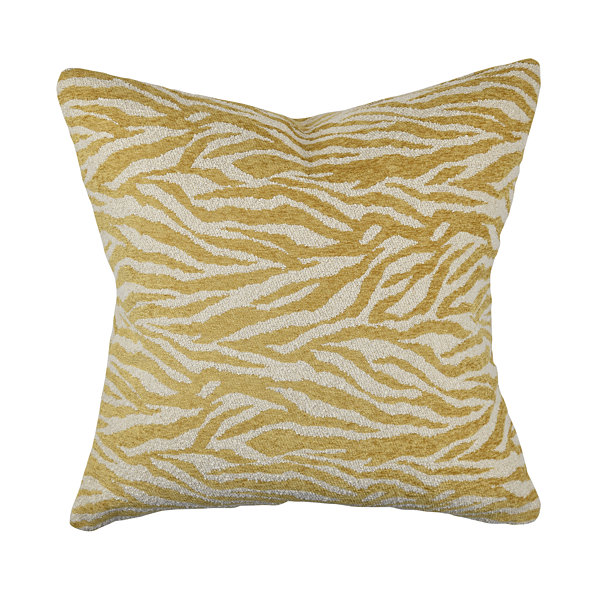 Cream and Gold Zebra Print Throw Pillow - JCPenney