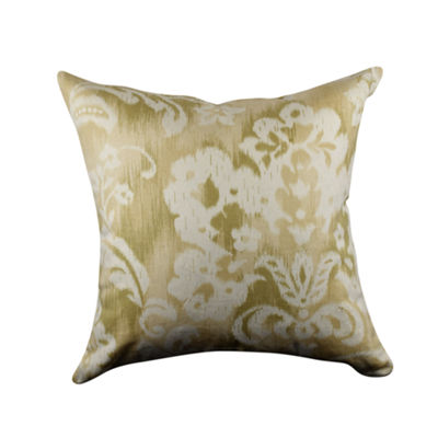 Cream Jacobean Designer Throw Pillow