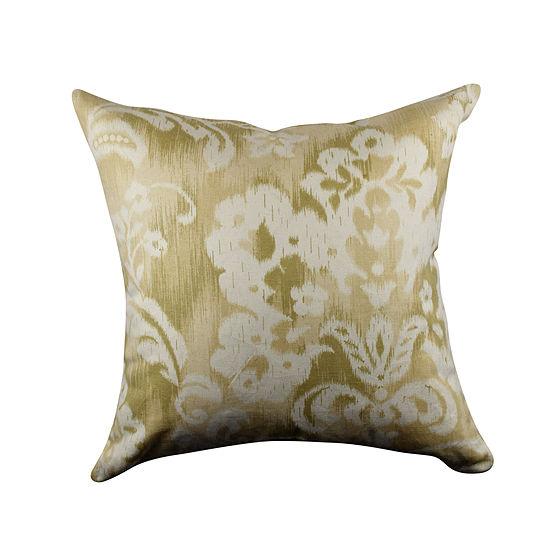 Cream Jacobean Designer Throw Pillow