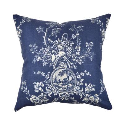 Deep Blue Throw Pillows : Deep Blue Toile Designer Throw Pillow - JCPenney