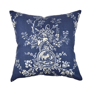 Deep Blue Toile Designer Throw Pillow - JCPenney