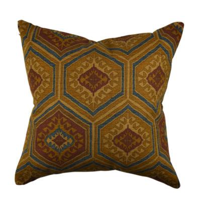 Deep Brown Scandinavian Designer Throw Pillow