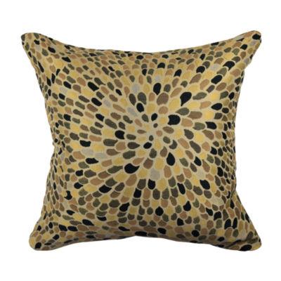 Earth Tone Rustic Jacquard Throw Pillow