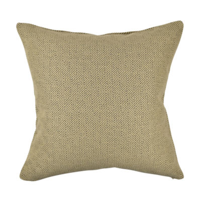 Fret Pattern Earth Tone Jacquard Pillow