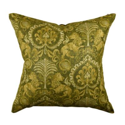 Gray Fleur De Lis Designer Throw Pillow
