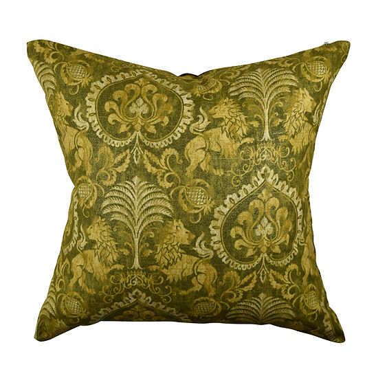 Vesper Lane Fleur De Lis Square Throw Pillow