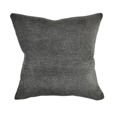 Gray Matelassé Terry Cloth Throw Pillow