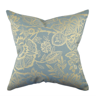Light Blue Damask Flocked Throw Pillow - JCPenney