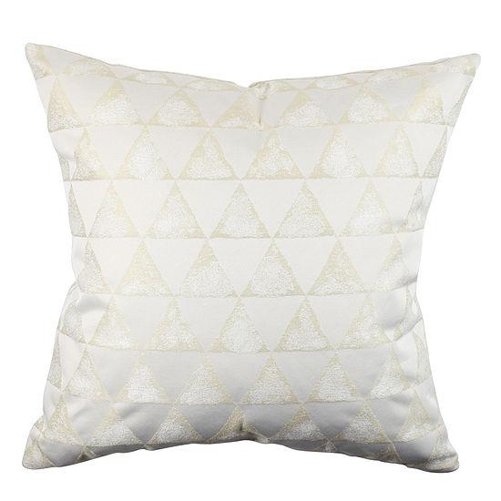 Metallic Geometric Designer Throw Pillow