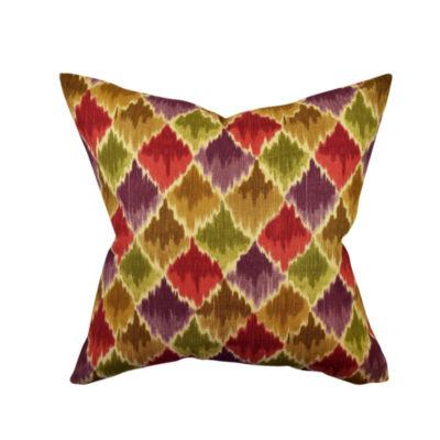 Multicolor Bohemian Inspired Throw Pillow