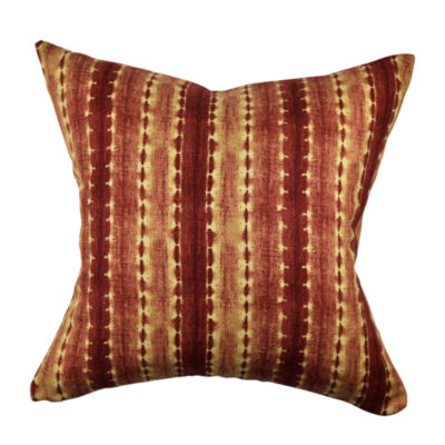 Jcpenney Red Decorative Pillows : Red Textured Stripe Designer Throw Pillow - JCPenney