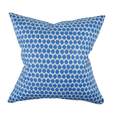 Sea Blue Polka Dot Designer Pillow