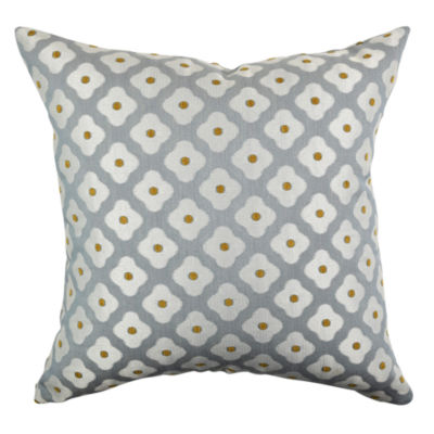 Simplified Floral Cotton Throw Pillow