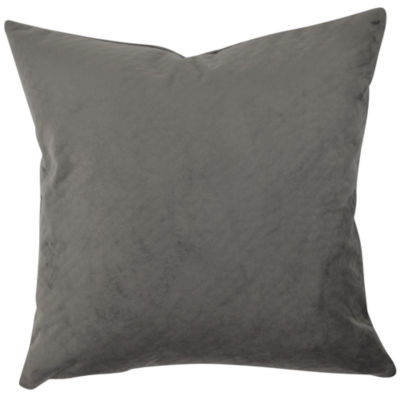 Solid Gray Matelasse Throw Pillow