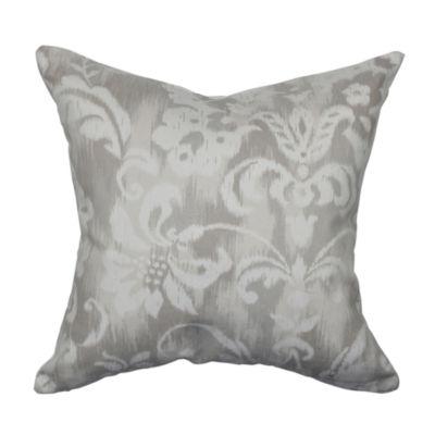 Steel Gray Jacobean Designer Throw Pillow