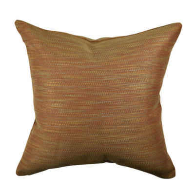 Textured Orange Jacquard Throw Pillow - JCPenney