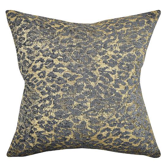 Vesper Lane Black And Gold Animal Print Throw Pillow