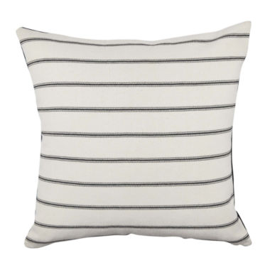 Vesper Lane Black and White Ticking Stripe Throw Pillow