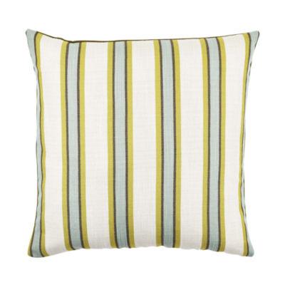 Vesper Lane Blue and Tan Striped Throw Pillow