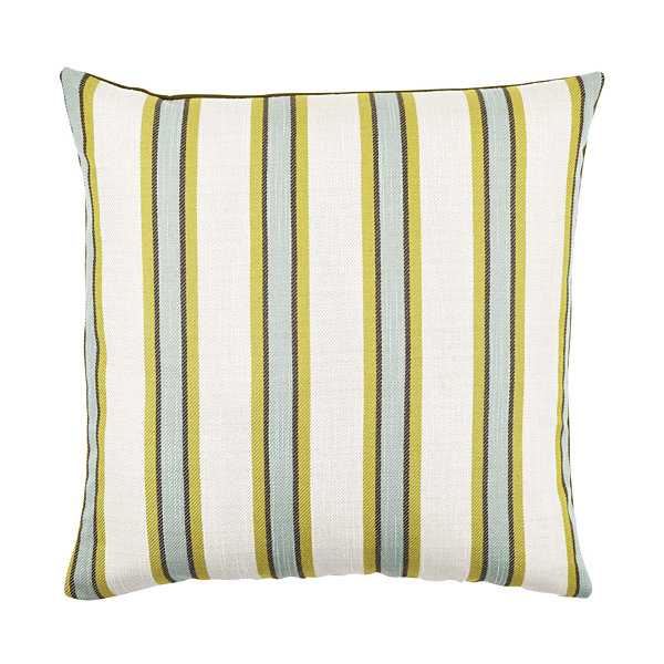 Vesper Lane Blue and Tan Striped Throw Pillow - JCPenney
