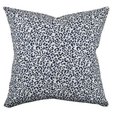 Vesper Lane Blue and White Animal Print Throw Pillow