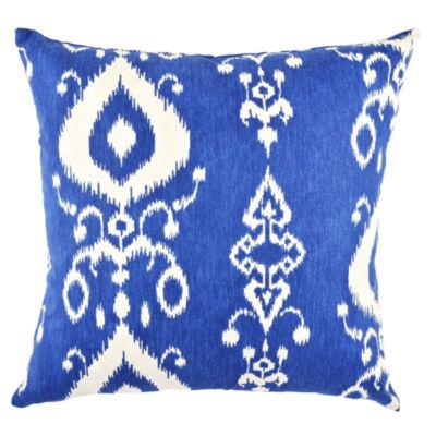 Vesper Lane Blue Ikat Designer Pillow