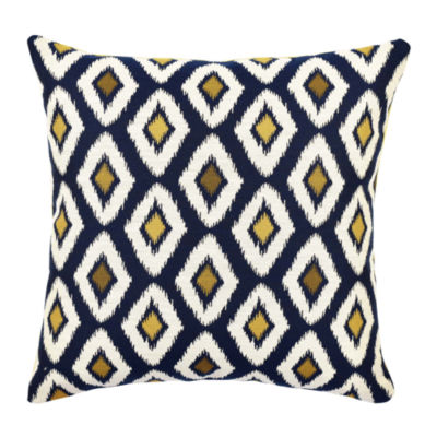 Vesper Lane Blue Ogee Designer Throw Pillow