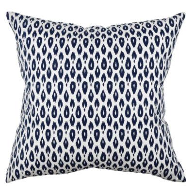 Vesper Lane Bold Blue Modern Ogee Throw Pillow
