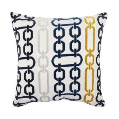 Vesper Lane Bold Circle-Link Designer Throw Pillow