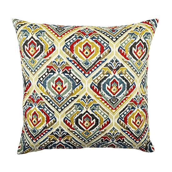 Vesper Lane Bold Ikat Inspired Designer Throw Pillow