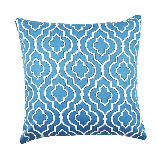Vesper Lane Bright Blue Moroccan Inspired Throw Pillow