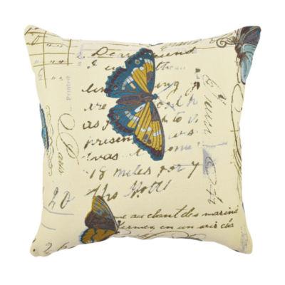 Vesper Lane Butterfly Poem Designer Throw Pillow