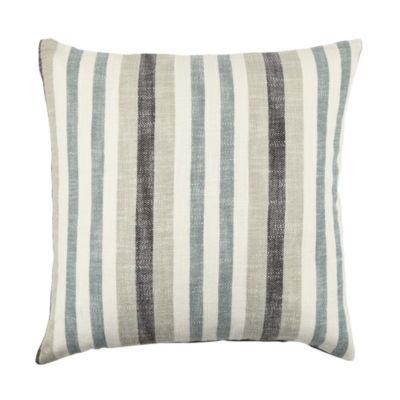 Vesper Lane Distressed Striped Throw Pillow
