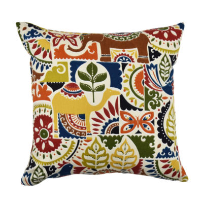Vesper Lane Earth Tones Eclectic Motif Throw Pillow
