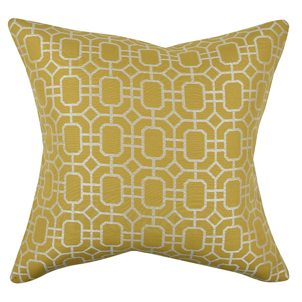Vesper Lane Geometric Honeycomb Throw Pillow